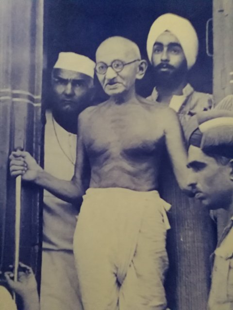 During one of his travels by railway across India