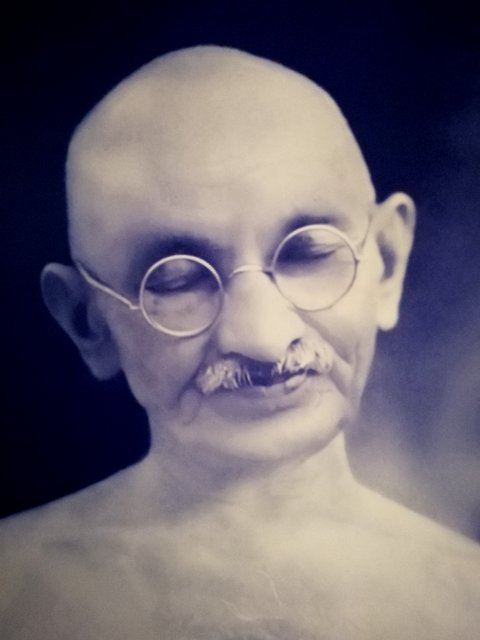 Gandhiji in deep thoughts