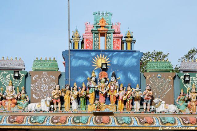 Naguleswaram Temple Gopuram - Shiv Vivah Mural