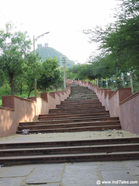 Path to Savitri Devi Temple - Pushkar