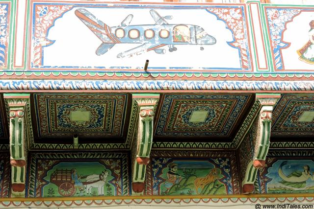 Airplane on a Mandawa Haveli