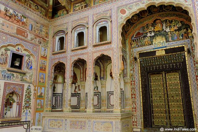 Ornate Door of Shekhawati Haveli