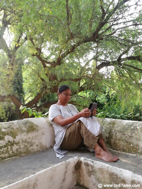 Reading under the Neem Tree