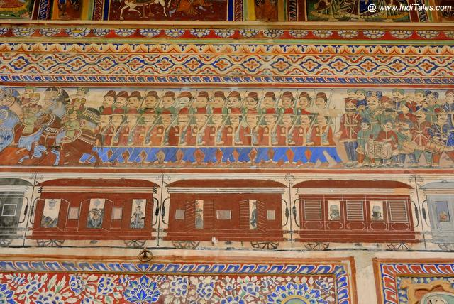 Trains on Shekhawati Haveli