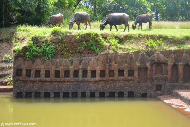 108 temples surrounding Porne Tirth in Divar, Goa