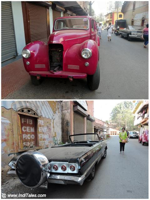Vintage Cars in the Lanes of Mapusa