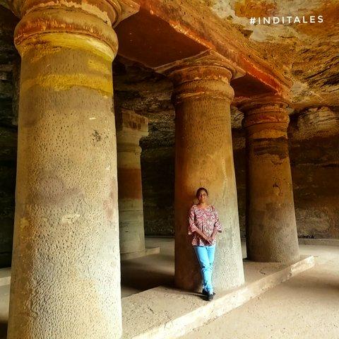 Anuradha Goyal at Bagh caves