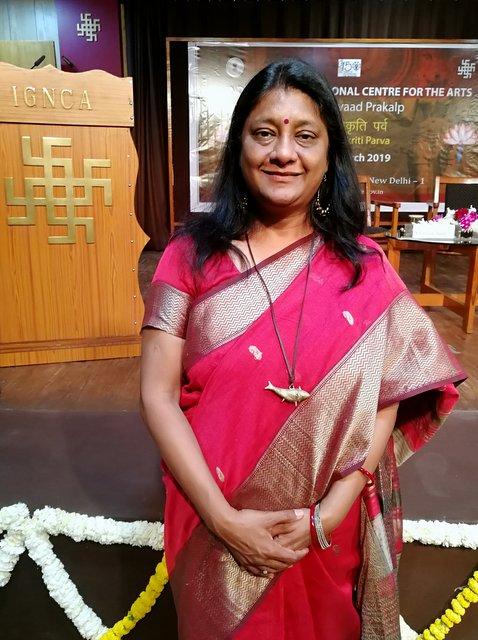 Anuradha Goyal speaking at Divya Prakriti Parv, IGNCA Delhi