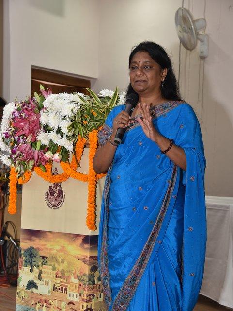 Anuradha Goyal co-curating Indica Yatra conference at BHU, Varanasi