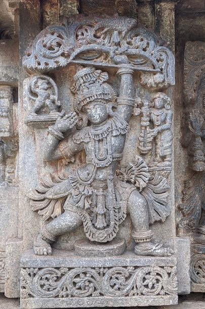 Arjuna at Draupadi Swayamvara - Lakshmi Narasimha Temple - Nuggehalli