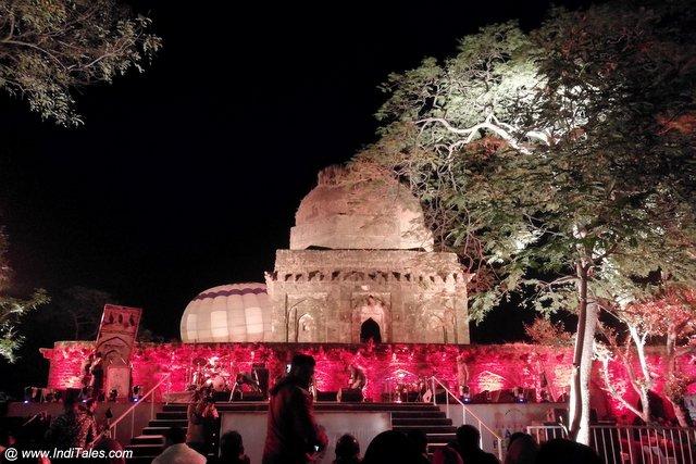 Concert venue at the Mandu Festival