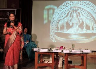 Anuradha Goyal speaking on Devi Footprint in India