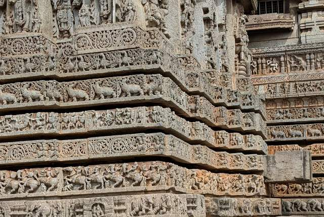 External Sculpted Walls of Lakshminarayana Temple in Hosaholalu