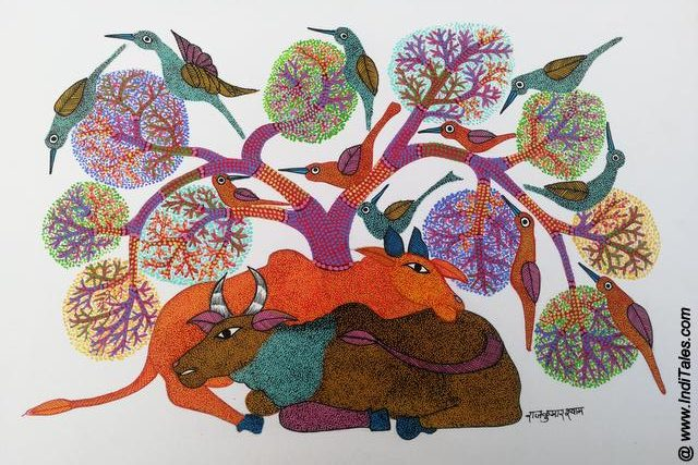 Gond paintings by Shyam Family