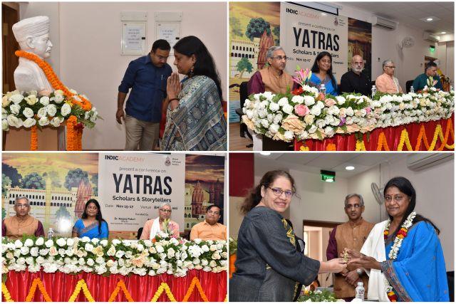Photo collage of Indica Yatra conference at Varanasi