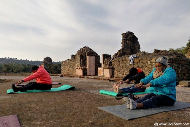 Yoga at the Mandu Festival