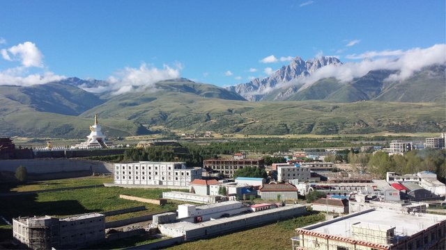 Morning Landscape at Garze in Eastern Tibet