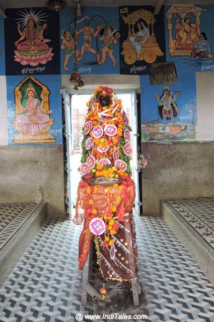 Simha Stambh at Biraja Devi Temple