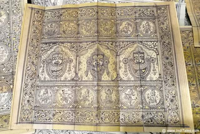 Jagannath, Subhadra & Balbhadra on Pattachitra