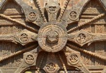 Details of the wheels of Konark
