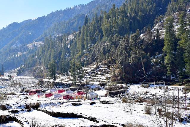 Morning landscape view of the Barot valley