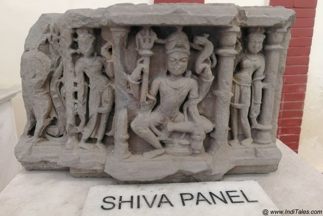 Shiva Panel at Bhima Devi Site Museum