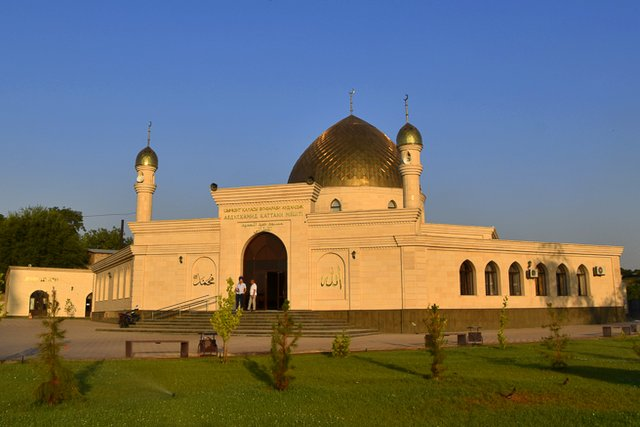 Abdulhamid Kattani Mosque in central Shymkent