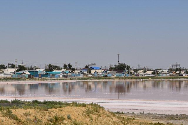 Salt lake at Aralsk