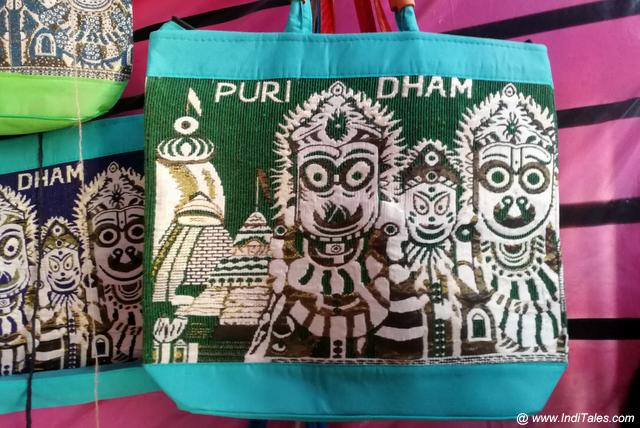 Jagannath paintings jute bags Odisha souvenirs