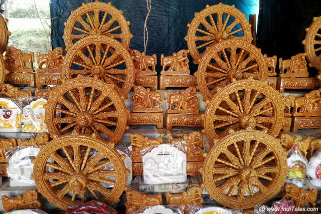 Famous Konark Wheel souvenir in wood