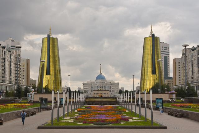 Landscape view of Presidential Palace, Nur-Sultan