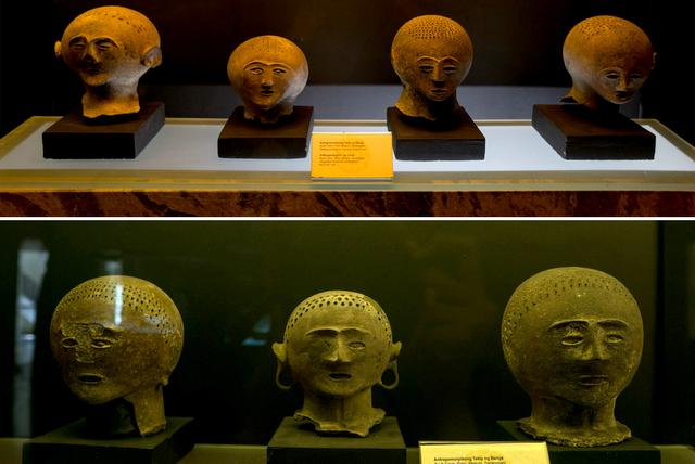 Anthropomorphic burial jar covers found in Ayub Cave, Maitum, Sarangani