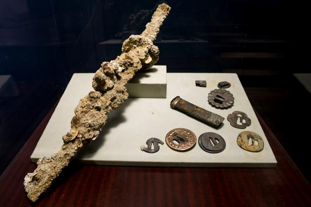 Japanese katana found in the San Diego shipwreck