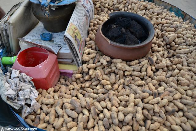 Roasted Peanuts, Street Food in India