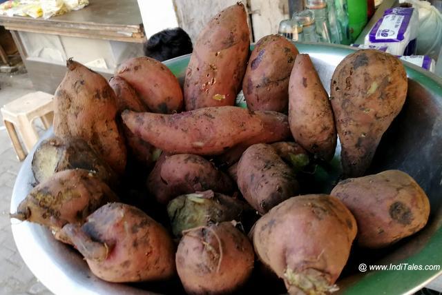 The roasted Sweet Potatoes