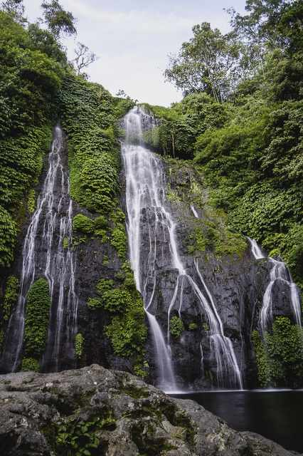 Beautiful Banyumala Twin Waterfalls, Munduk