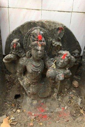 Uma Maheshwara sculpture at Sopara