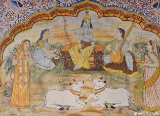 Krishna Stories on Poddar Haveli Walls