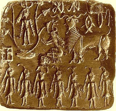 Mohenjo Daro Seal with 7 Mothers