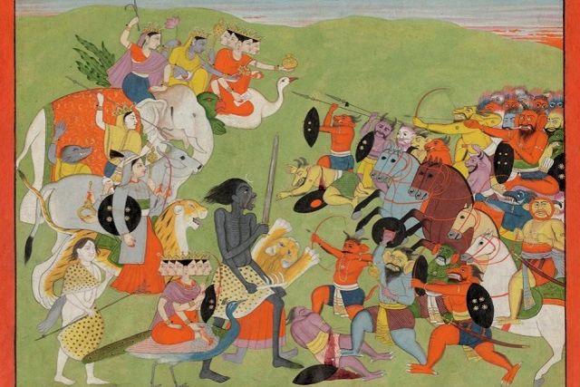 Saptamatrikas in Pahadi Miniature