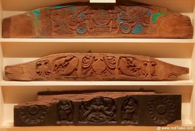 Carved wooden door panels