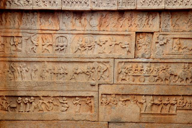 Stories carved in stone. Episodes from the historical events for us to learn