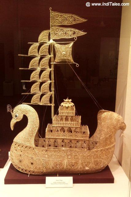 Filigree work Sailing boat artifact