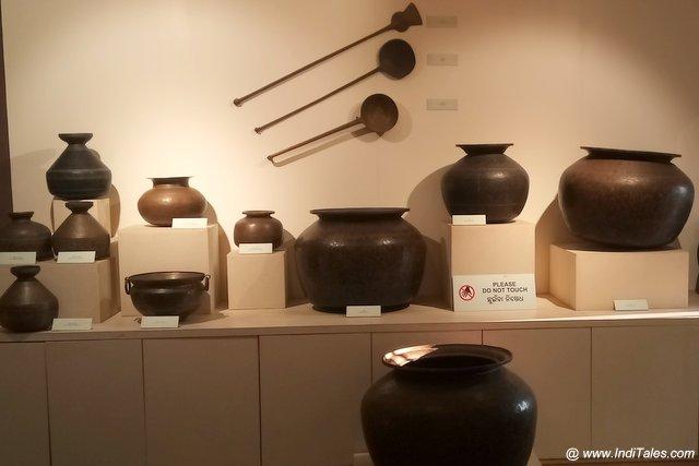 Tribal Metal Utensils at Kala Bhoomi Odisha Crafts Museum