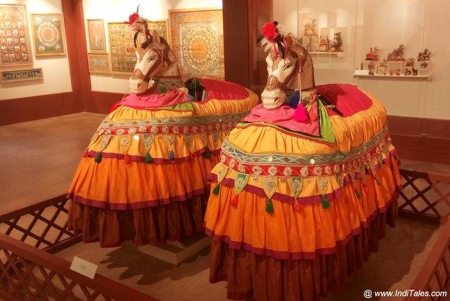 Traditional imitation horse costume