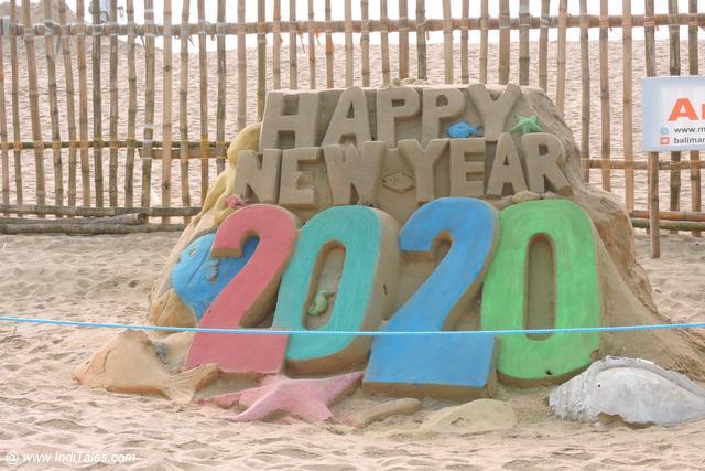 Sand Art on Puri Beach