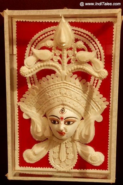 Sholapith crafted goddess Durga