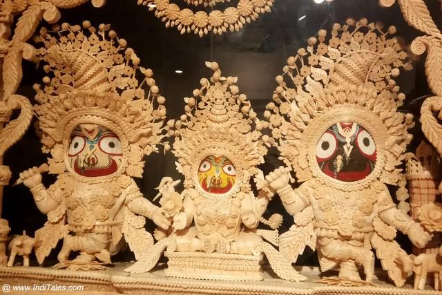 Sholapith crafted Lord Jagannath trinity