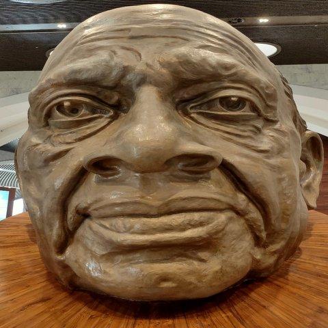 A replica statue of the face of Shri Sardar Patel