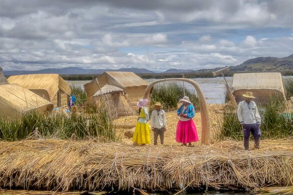 Locals at Uros islands